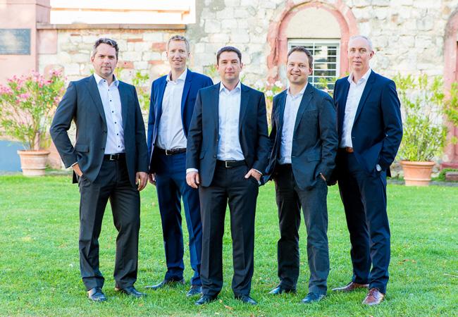Bildunterschrift: wiwi consult Führungsteams (v. l. n. r.): Thomas Zenk, Dr. Jörn Parplies, Michael Böhm, Torsten Höllwarth und Michael Schmitz Copyright: wiwi consult GmbH & Co. KG