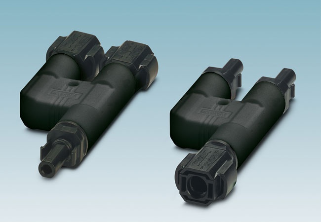 Robuste Y-Verteiler für PV-Anlagen / Pressebild