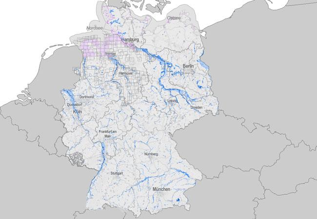 Diercke Weltatlas Kartenansicht Rhein Hochwasser Ereignis