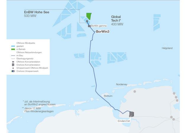 Emden Karte.Tennet Meldet Seekabel Im Offshore Wind Projekt Borwin3